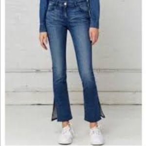 MICHAEL KORS Split Hem Crop Flare Jeans 12 EUC